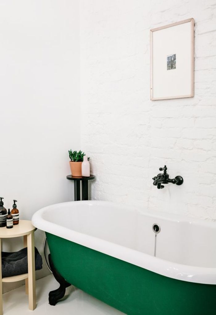 Emerald Green Clawfoot Bathtub Inspiration | Dutchie Love