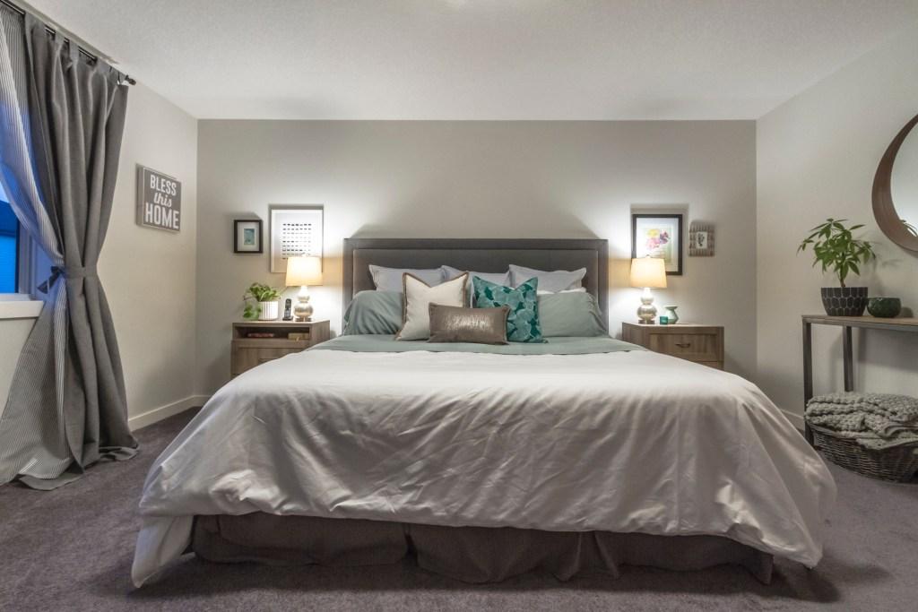 Beach Inspired Master Bedroom Makeover