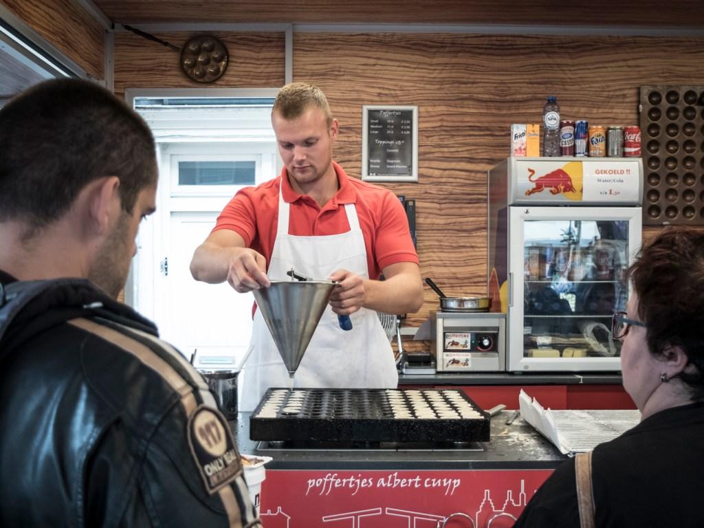 Poffertjes at the Albert Cuyp Market in Amsterdam, Netherlands - Dutchie Love