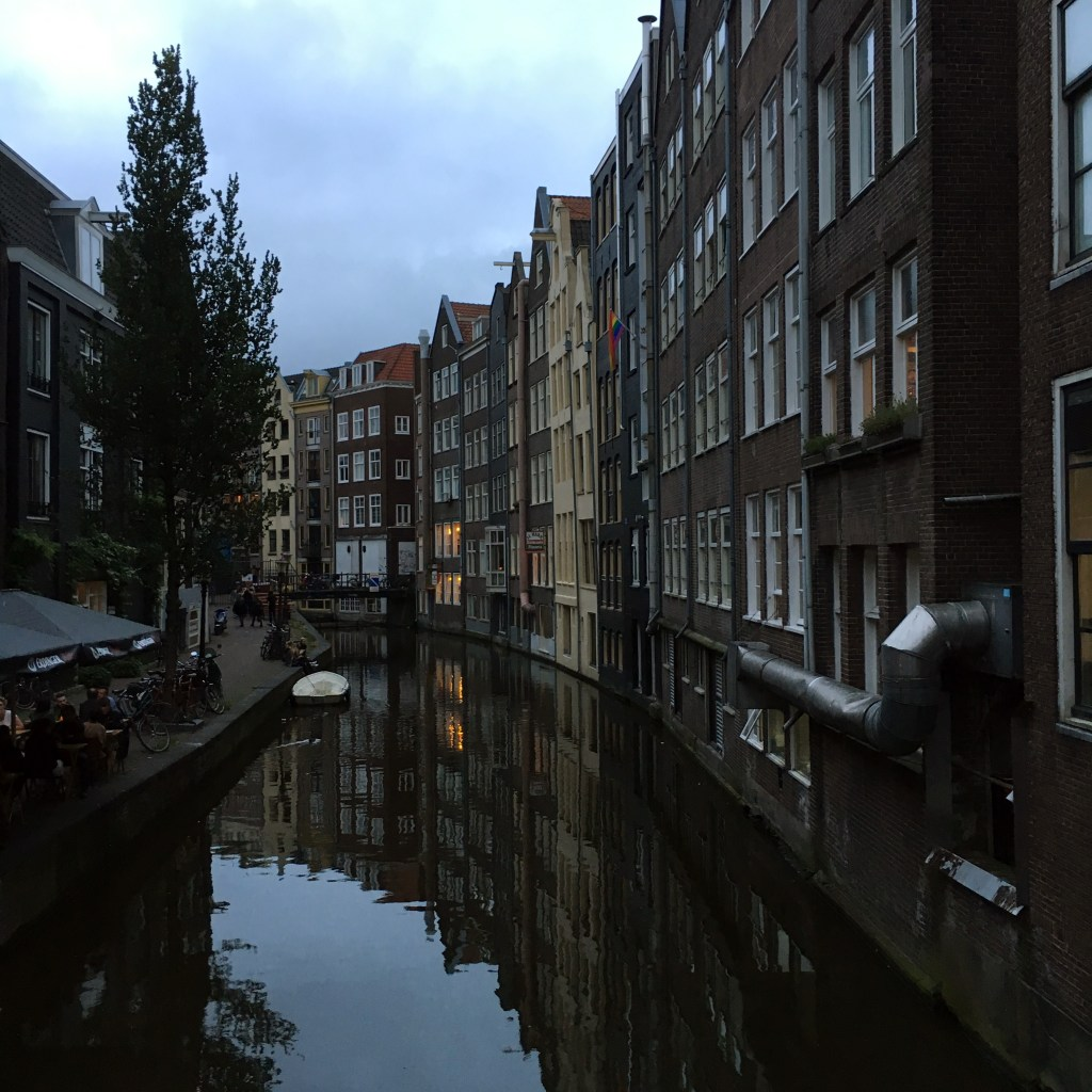 Night canals in Amsterdam, Netherlands - Dutchie Love