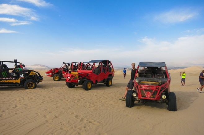 Sandbuggies in Huacachina desert
