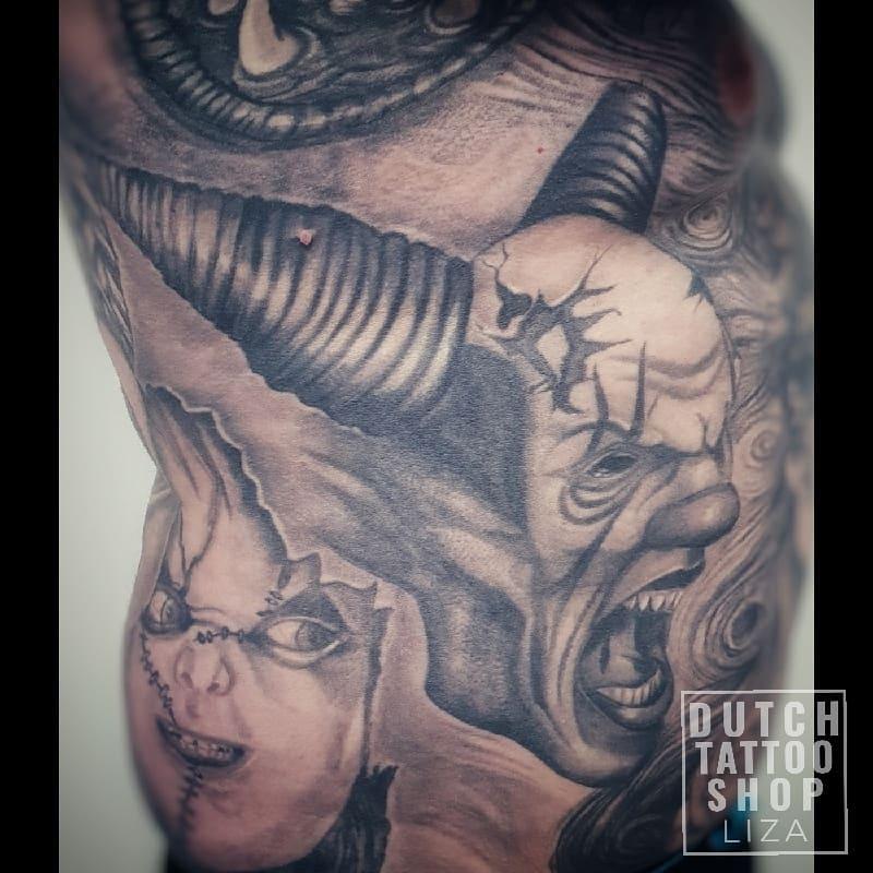 horror-clown-devil-realistisch-mannelijke-tattoo