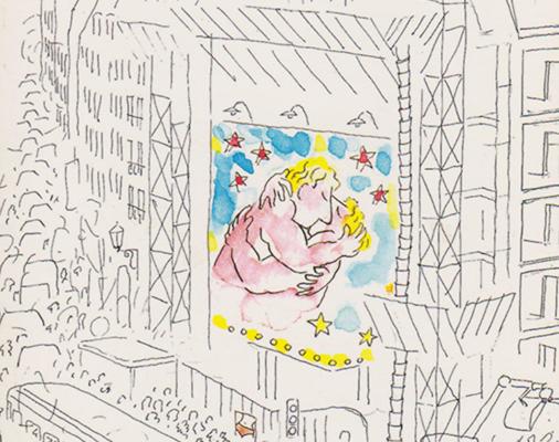 Gaieté parisienne,couverture folio par Sempé