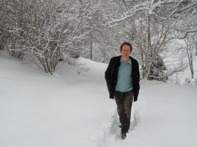Benoît Duteurtre chez lui dans les Vosges. Photo J.-S. Richard
