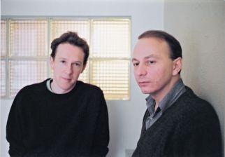 Benoît Duteurtre et Michel Houellebecq au Chelsea Hotel. Photo Sébastien Assouline