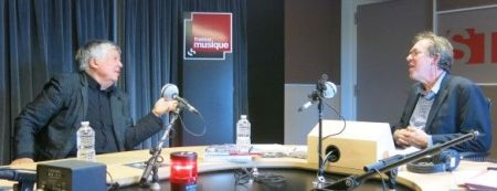 Benoît Duteurtre, Étonnez-moi Benoît, France Musique, Jean-Luc Choplin et Benoît Duteurtre, studio 131, 03 novembre 2018, photo de Annick Haumier