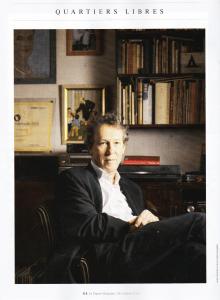 Benoît Duteurtre - En marche !, photo Laura Stevens, le Figaro magazine, 26-27 octobre 2018