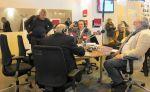 Salon du livre de Paris, Serge Elhaïk; José Muñoz, Benoît Duteurtre & Michel Plisson, 22 mars 2014