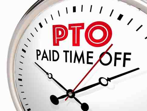PTO Paid Time Off or vacation pay deductions legal employer