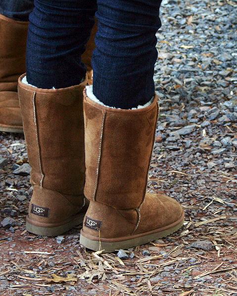 Un par de botas de UGG