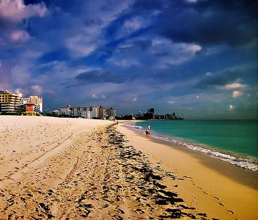 South Beach donde se han filmado muchas películas norteamericanas