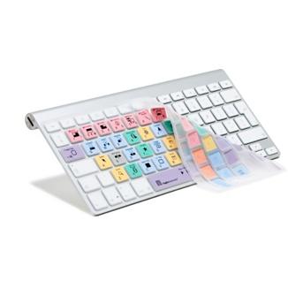 Esta funda para teclado utiliza la misma gama de colores que Final Cut Pro X.