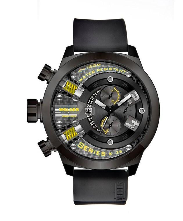 Negro y verde,  una combinación que triunfará sin remedio en 2012. Reloj discreto y muy especial el que presenta la marca Welder.