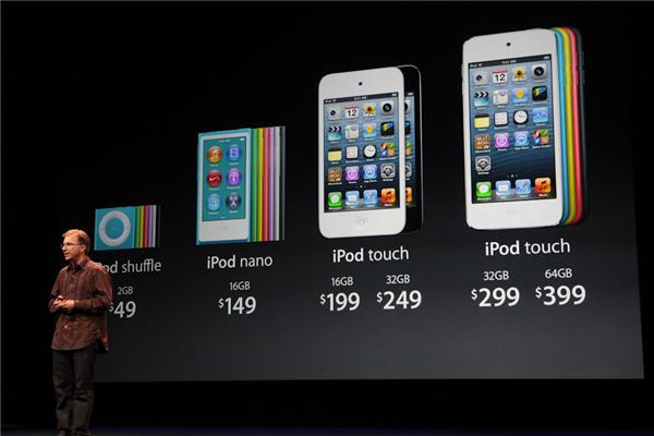 2GB shuffle $49. iPod Nano- 16GB $149, iPod Touch 16GB $199, 32GB for $249.