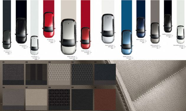 Gama de colores de tapicerias y colores de carrocería del nuevo Golf 2013