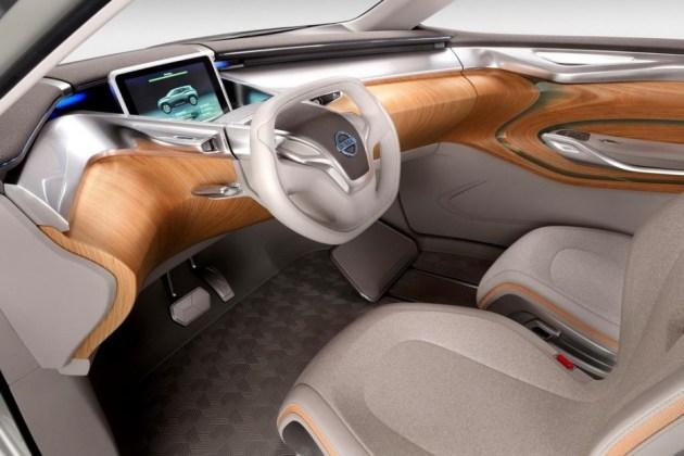 interior de lujo en el Nissan TeRRa Electric SUV Concept