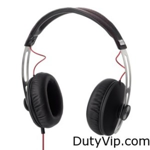 Auriculares tipo casco Momentum de Sennheiser con micrófono y mando a distancia