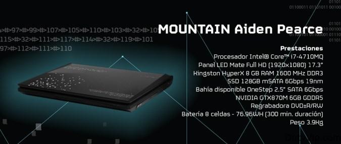 Aiden Pearce es el equipo elegido para que lleves a cabo todas las acciones que se te ponen en bandeja. Viene configurado con un Procesador Intel® Core™ i7-4710M, acompañado de unos poderosos 8GB de RAM HyperX. Y cómo no, también lleva consigo un disco duro SSD con 128GB. Pero esta increíble máquina viene acompañada de una sorpresa, y no es otra que la nueva gráfica GeForce GTX 870M de NVIDIA, una nueva generación de GPU que puede con todos los géneros disponibles de videojuegos.