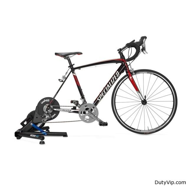 """Wahoo KICKR es compatible con los siguientes tamaños de rueda y de eje: ancho del eje — 130 mm (carretera) o 135 mm (montaña); tamaño de rueda — 24"""" RD / 24"""" MTB / 650c RD / 26"""" MTB / 700c RD / 650b MTB / 29"""" MTB"""
