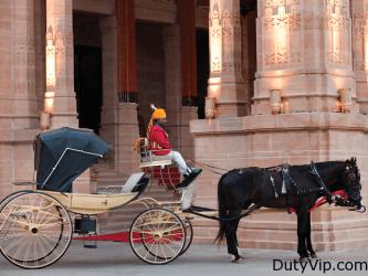 El carruaje de lujo en el Umaid Bhawan Palacio