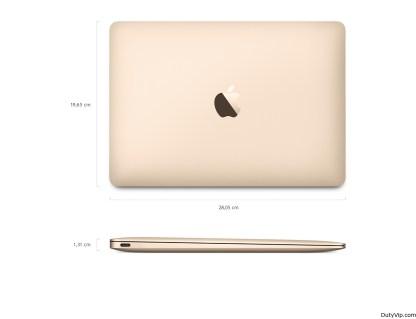 Dimensiones del nuevo MacBook
