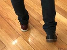 Combinando los zapatos para ver sus diferencias y estilos de Posco