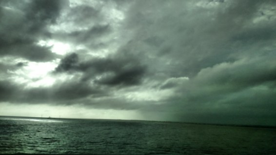 The skies looked ominous