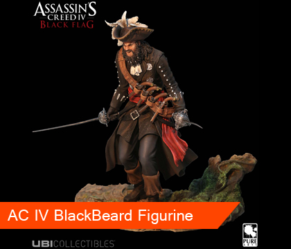 New BlackBeard Figurine And New Trailer For AC IV Black Flag