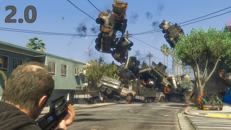 Vehicle Cannon 2.0 Mod for GTAV