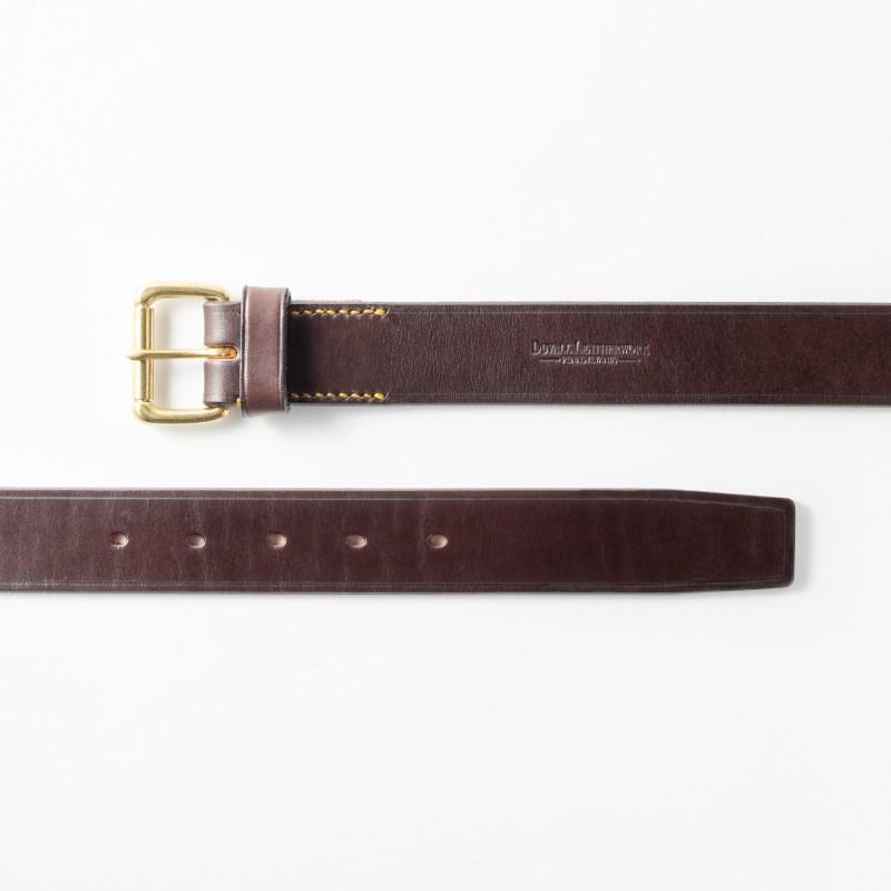 Dark brown full grain leather belt for men