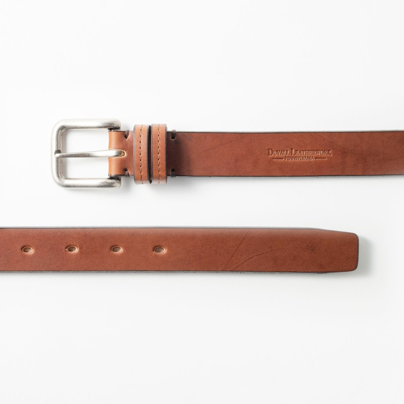 A leather belt made of real, high-quality leather
