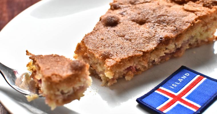 Tarte à la rhubarbe – From Iceland