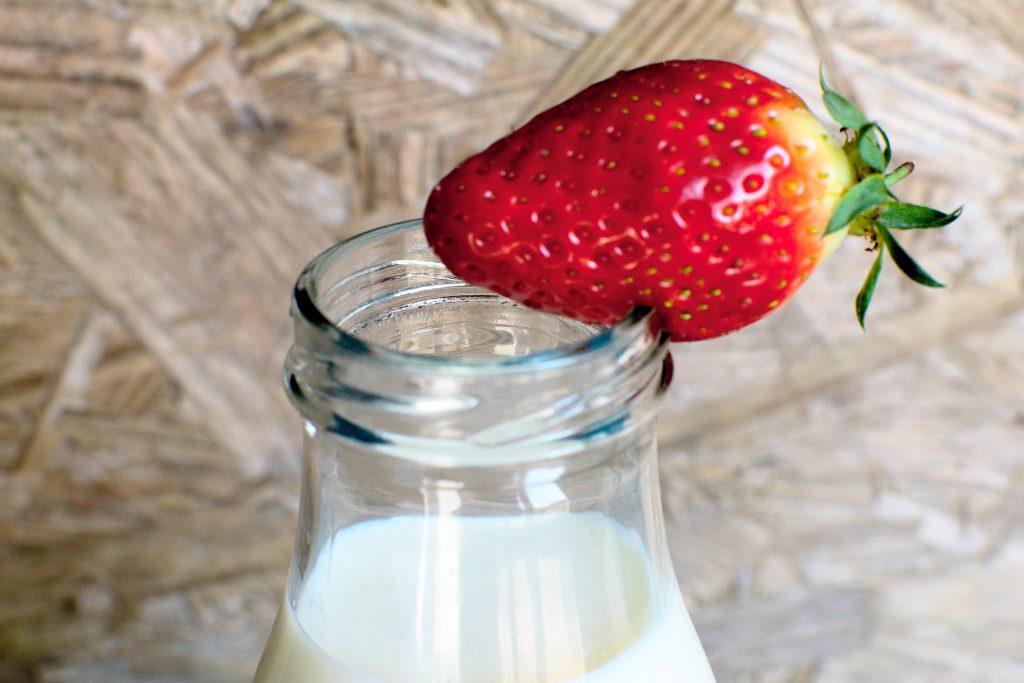 Fraise et lait