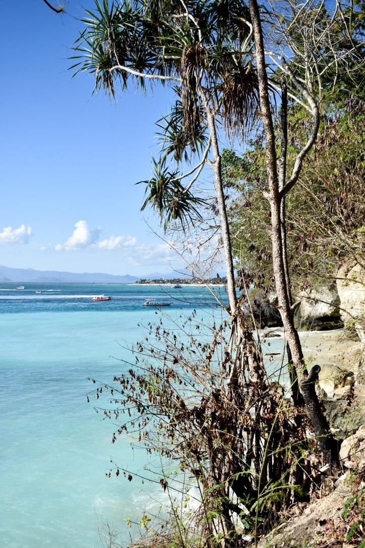 Les eaux turquoises de Lembongan
