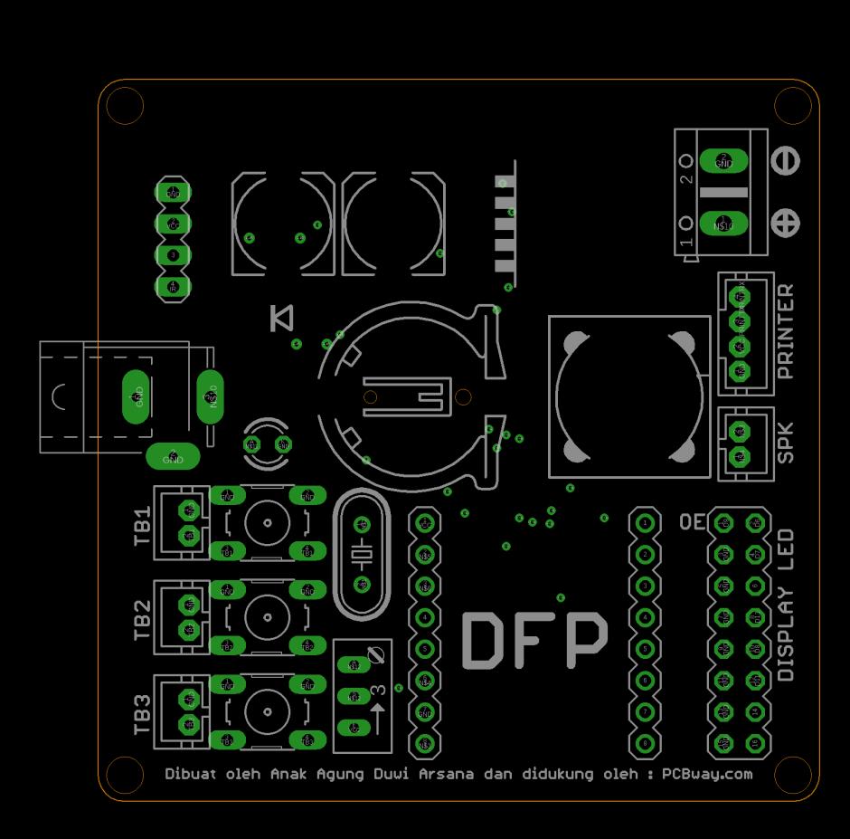 Tata letak komponen mesin antrian arduino
