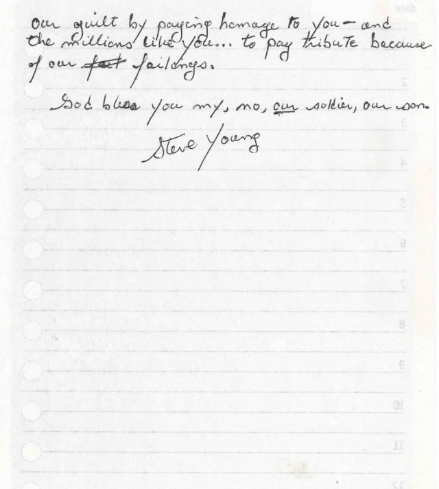 Featured  Letter to an Unknown Soldier