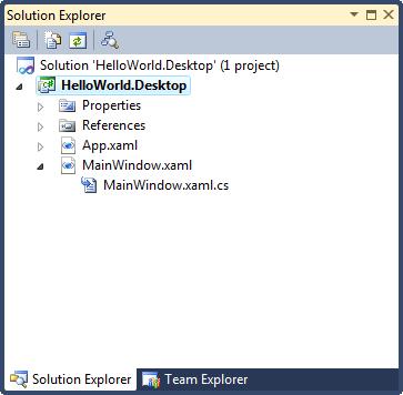 Trong visual studio tạo mới một project WPF Application, và đặt tên là HelloWorld.Desktop