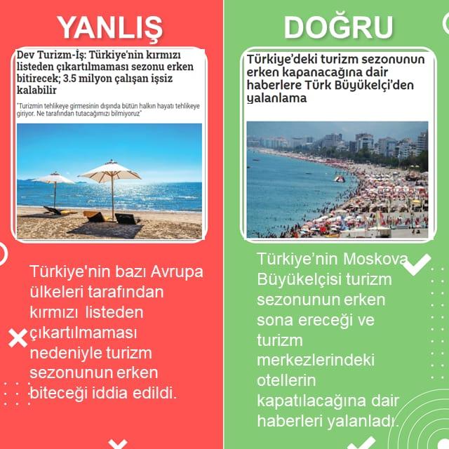 Türkiye'nin bazı Avrupa ülkeleri tarafından kırmızı listeden çıkartılmaması nedeniyle turizm sezonunun erken biteceği iddia edildi