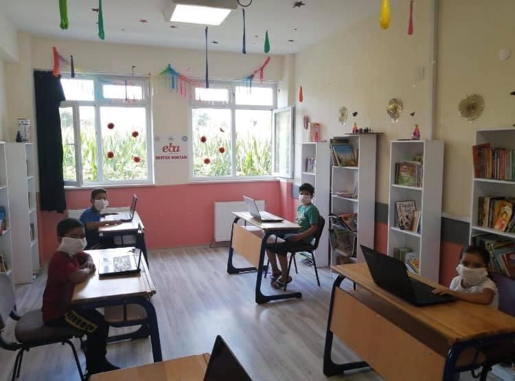 Bahçeköy İlkokulu'nda EBA destek noktası kuruldu