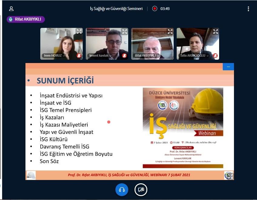 DÜ'de iş sağlığı ve güvenliğinin önemi anlatıldı
