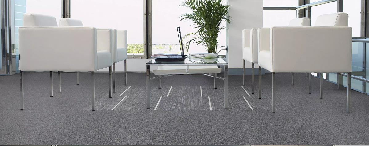 Carpeting, office furniture