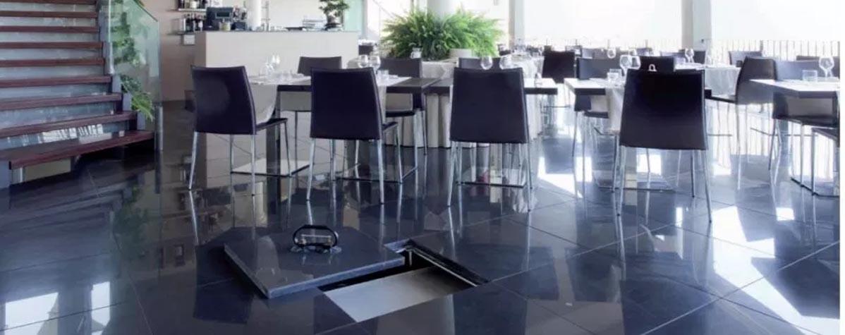 Raised flooring, office furniture