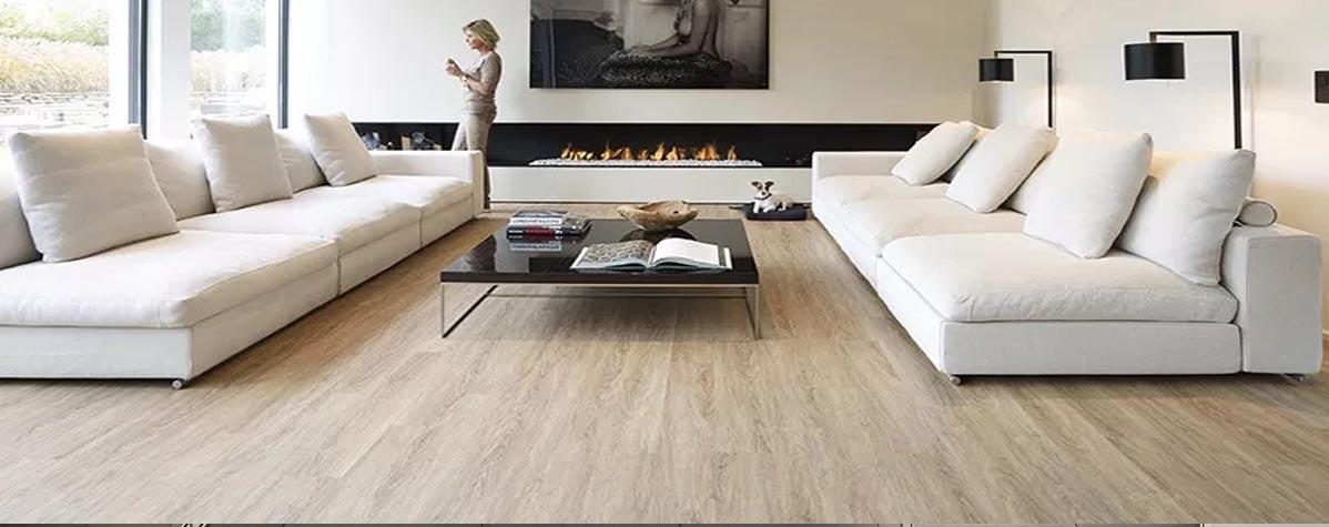 Office furniture, vinyl flooring