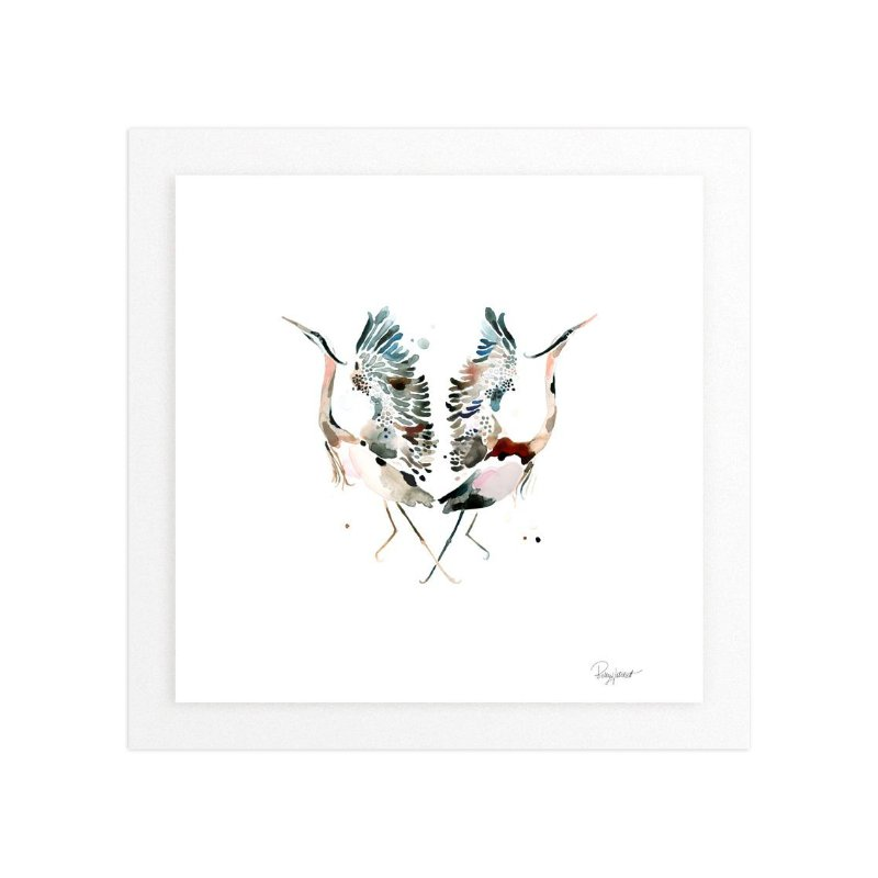 Family Crest: Great Blue Herons Wall Art Prints by Betty
