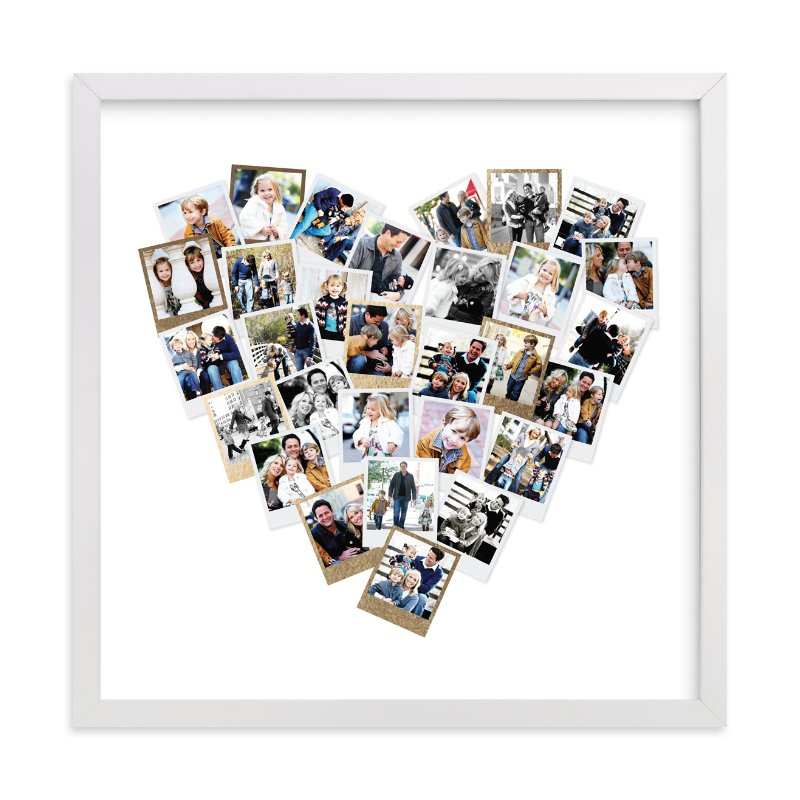 Heart Snapshot Mix Foil Pressed Photo Art Print