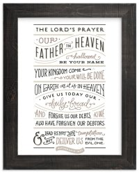 The Lord's Prayer Wall Art Prints by Jennifer Wick | Minted