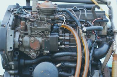 boat engine during marine survey