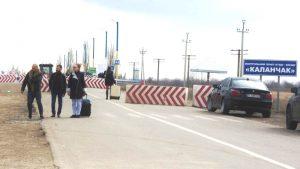 На админгранице Херсонской области и Крымского полуострова во всю идут работы по строительству контрольных пунктов пропуска