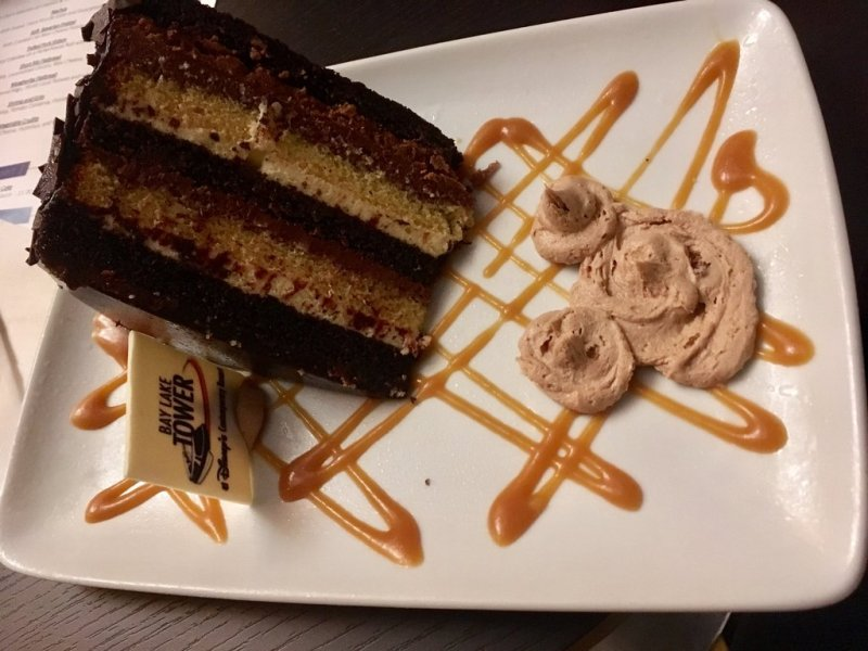 The seven-layer cake at Top of the World Lounge