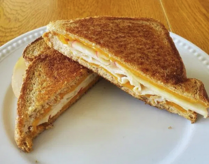 Turkey Apple Grilled Cheese